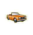 Vintage Cabriolet Top-Down Car Isolated Retro vector image vector image