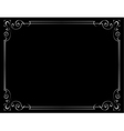 vintage frame on a black background vector image vector image