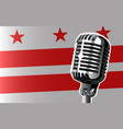 washington dc flag and microphone vector image
