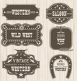 Western vintage labels isolated for design frames vector image vector image
