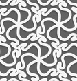White 3d wavy pattern vector image vector image