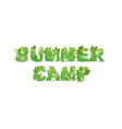 word summer camp with vector image vector image