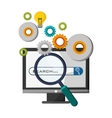 computer technology search idea gear vector image