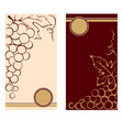 Patterns for wine labels vector image