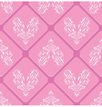 Floral pink pattern heart background seamless swir vector image
