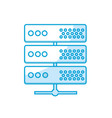 silhouette digital router to connect data center vector image