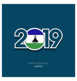 2019 lesotho typography happy new year background vector image vector image