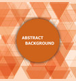 abstract background with orange hexagon template vector image vector image