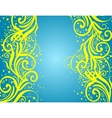 Abstract blue-yellow background vector image