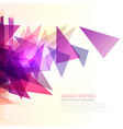 abstract burst of pink and purple triangles shape