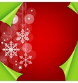 Abstract colorful red christmas background vector image vector image
