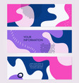 abstract compositions - set modern horizontal vector image