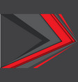 abstract red gray arrow speed modern vector image