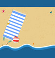 aerial top view of summer beach with golden sand vector image vector image