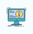 alert antivirus attack computer virus flat icon vector image