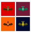 assembly flat cute bat vector image