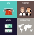 Banking set icons vector image vector image
