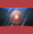bitcoin technology abstract visualization vector image vector image