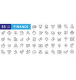 business and finance editable stroke line icon vector image
