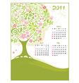 calendar spring vector image vector image