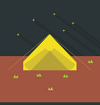 camping icon set of great flat icons with style vector image vector image