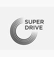 car tire logo template vector image