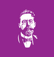 chekhov portraits famous russian historical vector image vector image