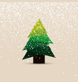 christmas tree in modern design new year dreeting vector image vector image