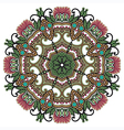 Circle ornament ornamental round lace vector image vector image