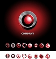 Circle sphere logo icon set vector image vector image