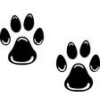 dog prints logo vector image vector image