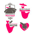 dress boutique or fashion dress and hat atelier vector image vector image