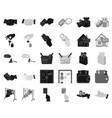 e-commerce and business blackmonochrome icons in vector image