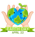 earth day poster concept vector image