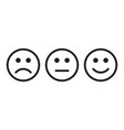 face smile icon positive negative neutral vector image vector image
