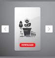 finance financial growth money profit glyph icon vector image vector image