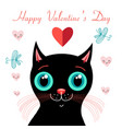 funny kitten in love vector image vector image