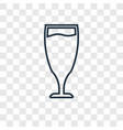 glass of wine concept linear icon isolated on vector image vector image