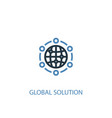 global solution concept 2 colored icon simple vector image vector image