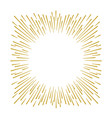 gold firework design on white background vector image vector image
