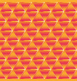 gold triangle pattern vector image vector image