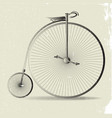 grunge penny farthing image vector image