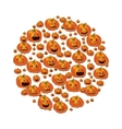 Halloween with pumpkins vector image vector image
