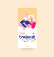 happy grandparents day colorful social media story vector image vector image