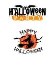 Happy halloween party advertisement vector image vector image