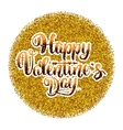 Happy valentines day lettering on options Gold vector image