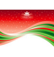 holiday merry christmas happy new year vector image
