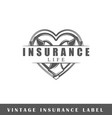 insurance label vector image vector image