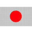 Japan flag embroidery design pattern vector image