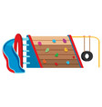 large playground object equipment vector image vector image